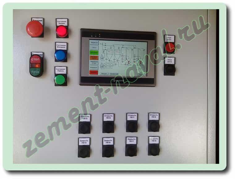 УВН-60. Дисплей и кнопки ручного управления
