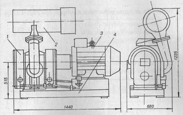Роторный компрессор 2ВД-12/2.5