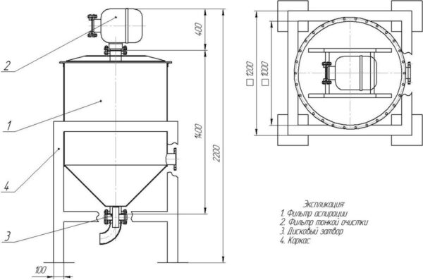 Стационарный фильтр аспирации ЦЕМ-1СТ